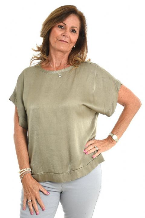 TAUPE SILKY TOP